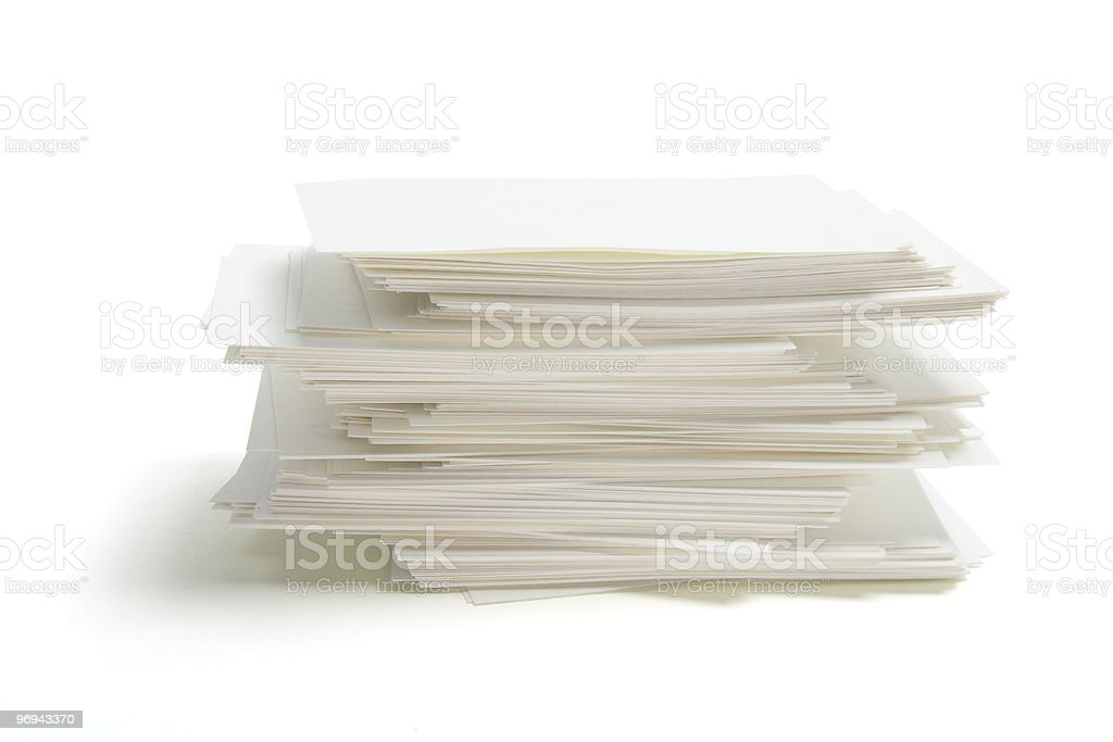 Stack of Blank Name Cards royalty-free stock photo