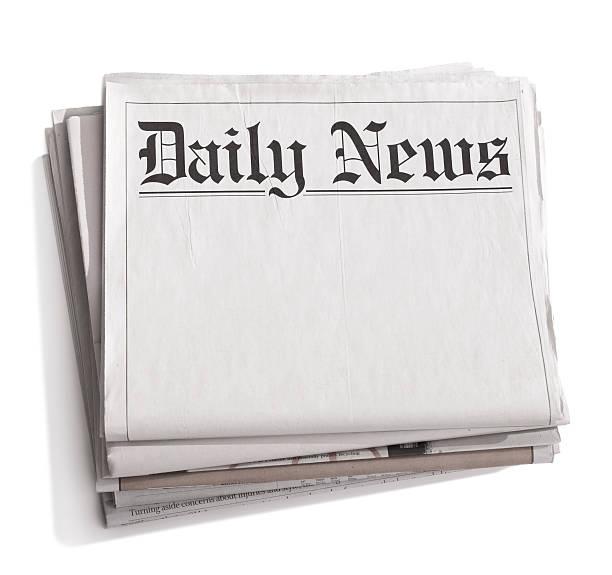Une pile de journaux vierge avec titre «Actualités» - Photo