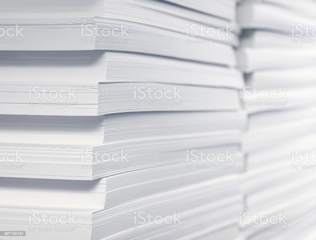 stack of blank paper stock photo  download image now  istock