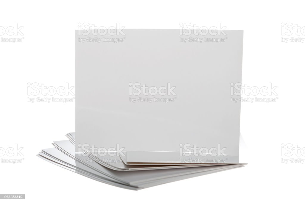 Stack of Blank Photo Frames royalty-free stock photo