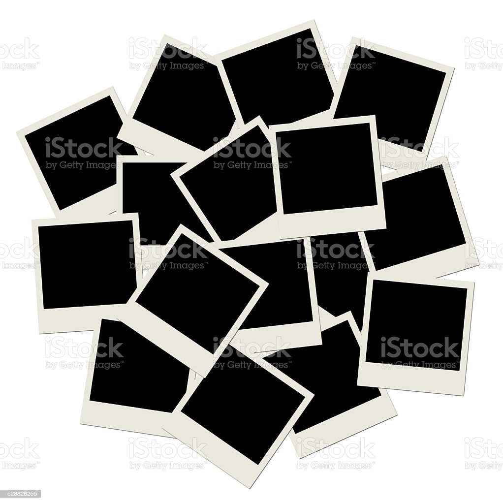 Stack of blank polaroid shots ,template for your design stock photo