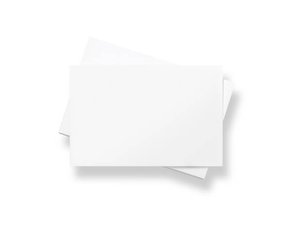 Stack of blank white business cards stock photo