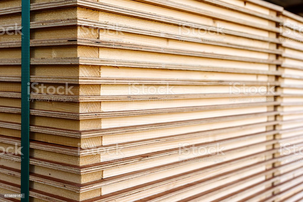 Stack of boards stock photo