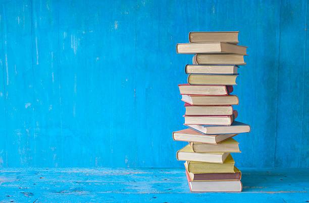 Stapel von Büchern, Grunge Hintergrund, – Foto