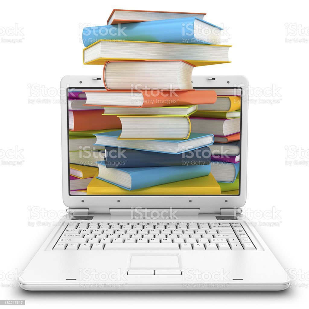 stack of books in notebook royalty-free stock photo