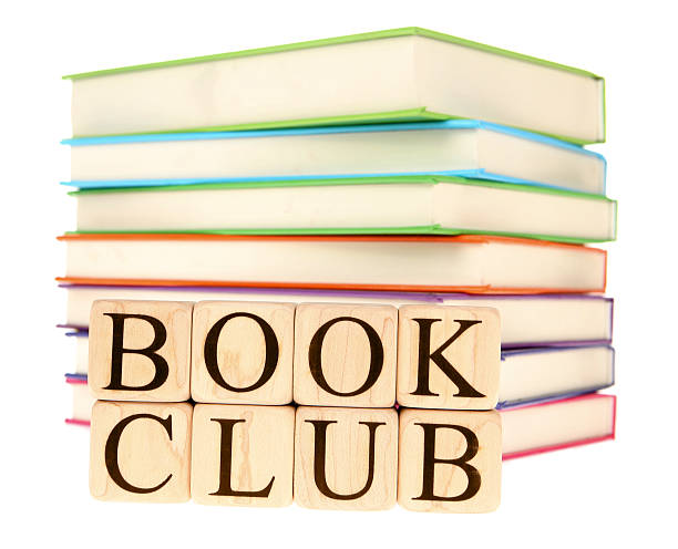 club sign stack books rainbow colors
