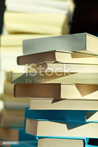 453684295istockphoto Stack of books in the sun 450305691