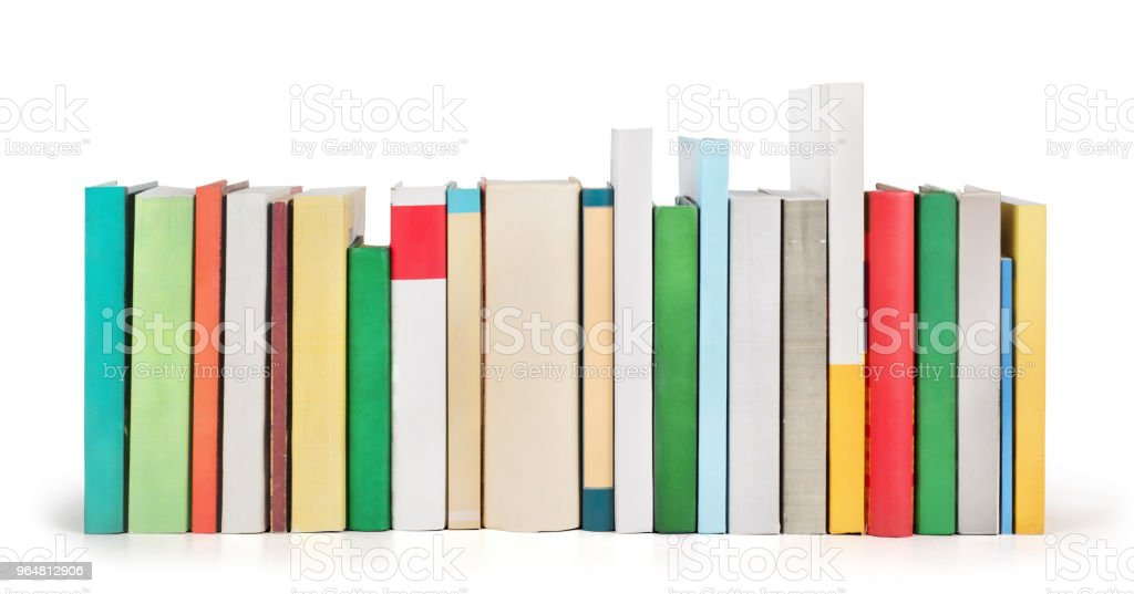 Stack of books isolated on a white background royalty-free stock photo