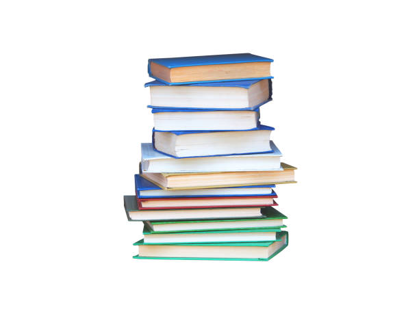 Stack of books isolated on white background Stack of books isolated on white background textbook stock pictures, royalty-free photos & images