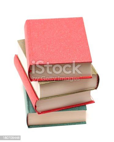 453684295istockphoto Stack of books isolated on white background 180709446