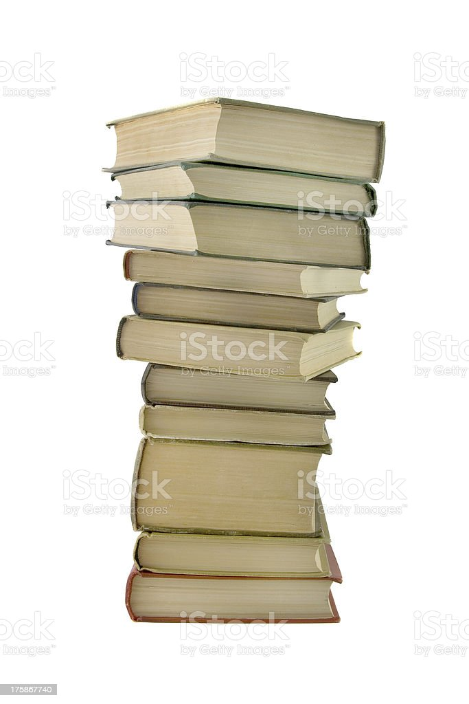 Stack of books isolated royalty-free stock photo
