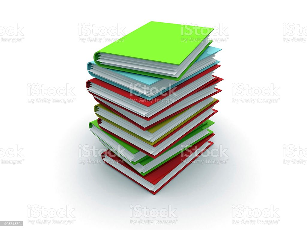 stack of books or folders royalty-free stock photo