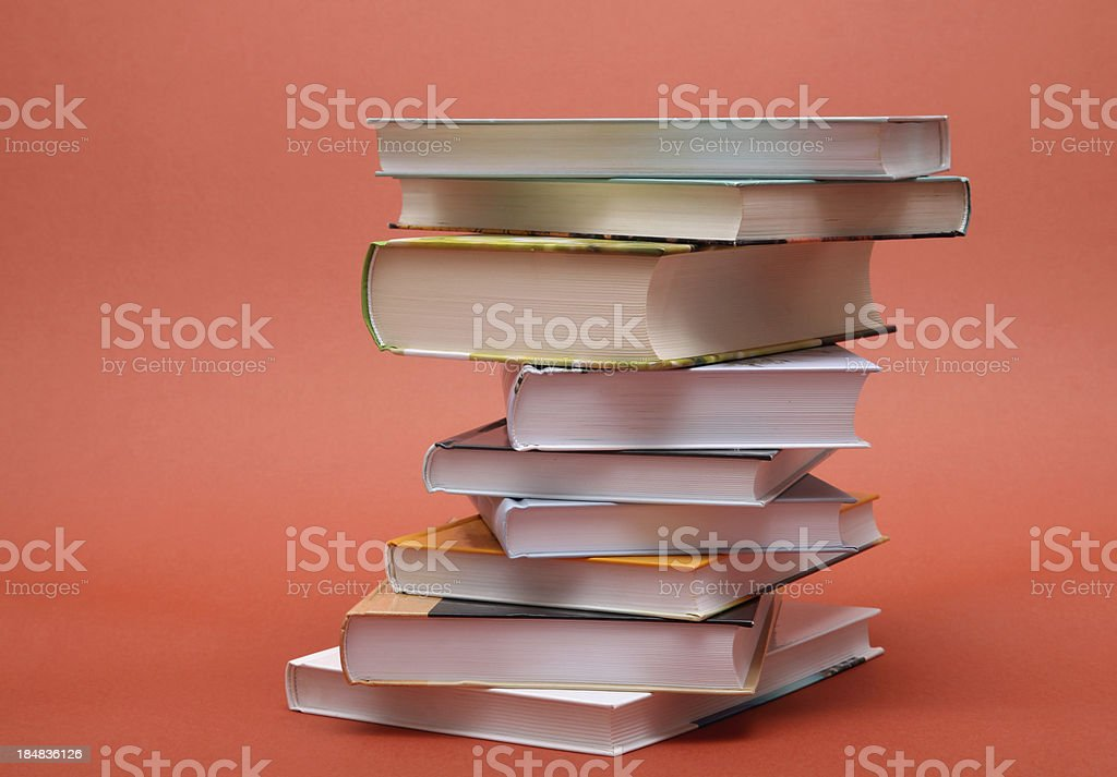Stack of books royalty-free stock photo