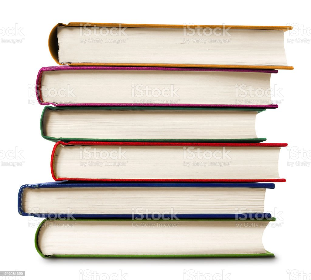 Stack of books with clipping path stock photo