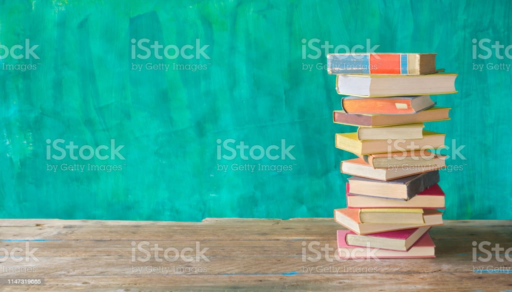 stack of books, reading, education, literature, back to school...