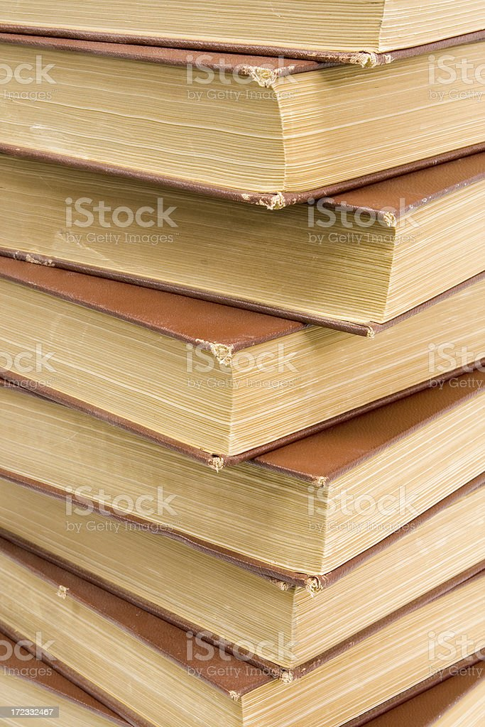 Stack of Books,Close up stock photo