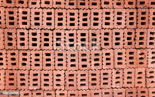 istock Stack of bricks background 636104896
