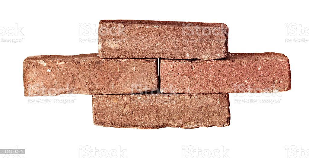 Stack of bricks stock photo