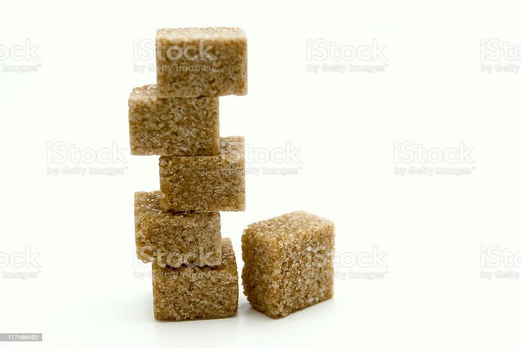 Stapel von braunem Zucker Würfel – Foto