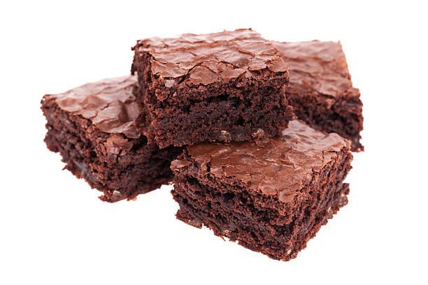Pila di brownies - foto stock