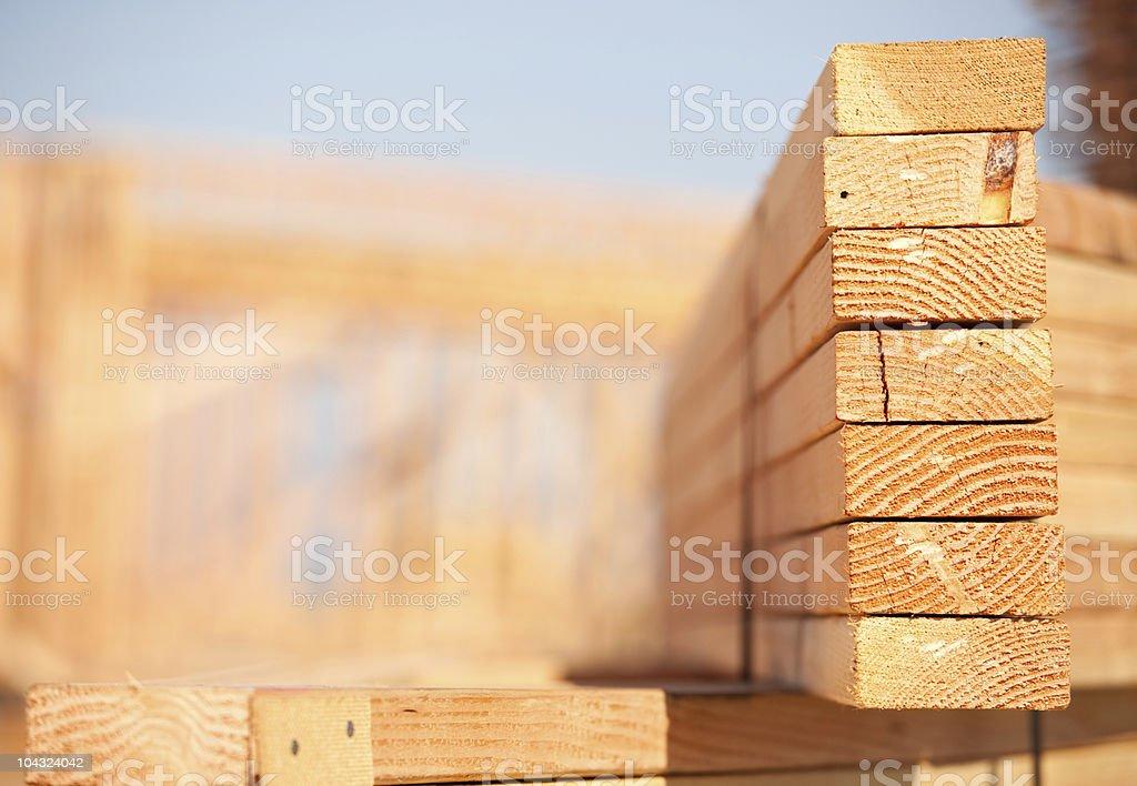 Stapel Gebäude Holz - Lizenzfrei Abstrakt Stock-Foto