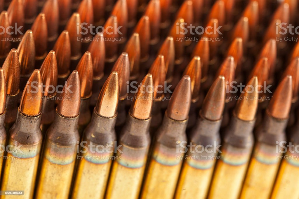 Stack of bullets. royalty-free stock photo