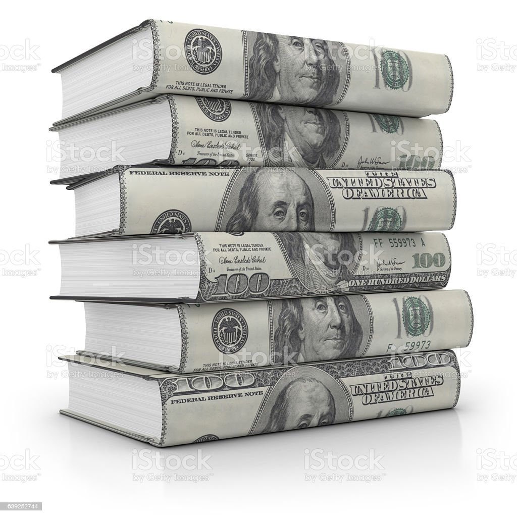 Stack of Business Books stock photo