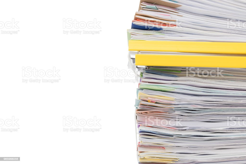 Stack of business document papers  isolated on white background - Royalty-free Accountancy Stock Photo