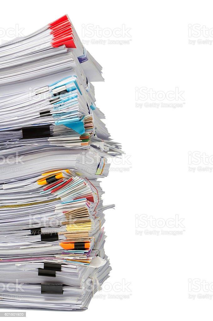 Pile de livres d'affaires isolé sur fond blanc photo libre de droits