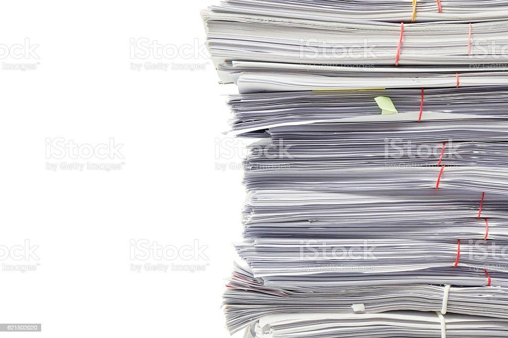 Ein Haufen business Dokumente isoliert auf weißem Hintergrund  Lizenzfreies stock-foto