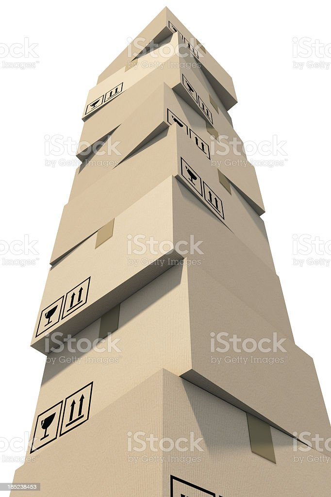 Stack of cardboard boxes royalty-free stock photo