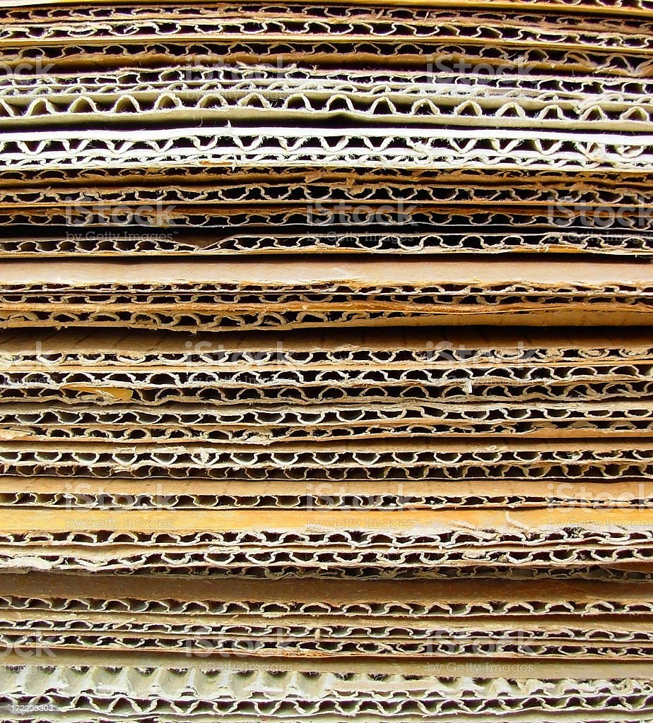 stack of cardboards stock photo