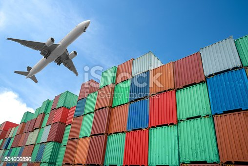 istock Stack of Cargo Containers at the docks 504606896