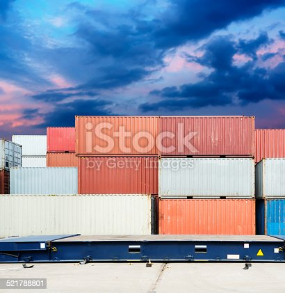 istock Stack of Cargo Containers at the docks 521788801