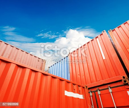 istock Stack of Cargo Containers at the docks 521993899