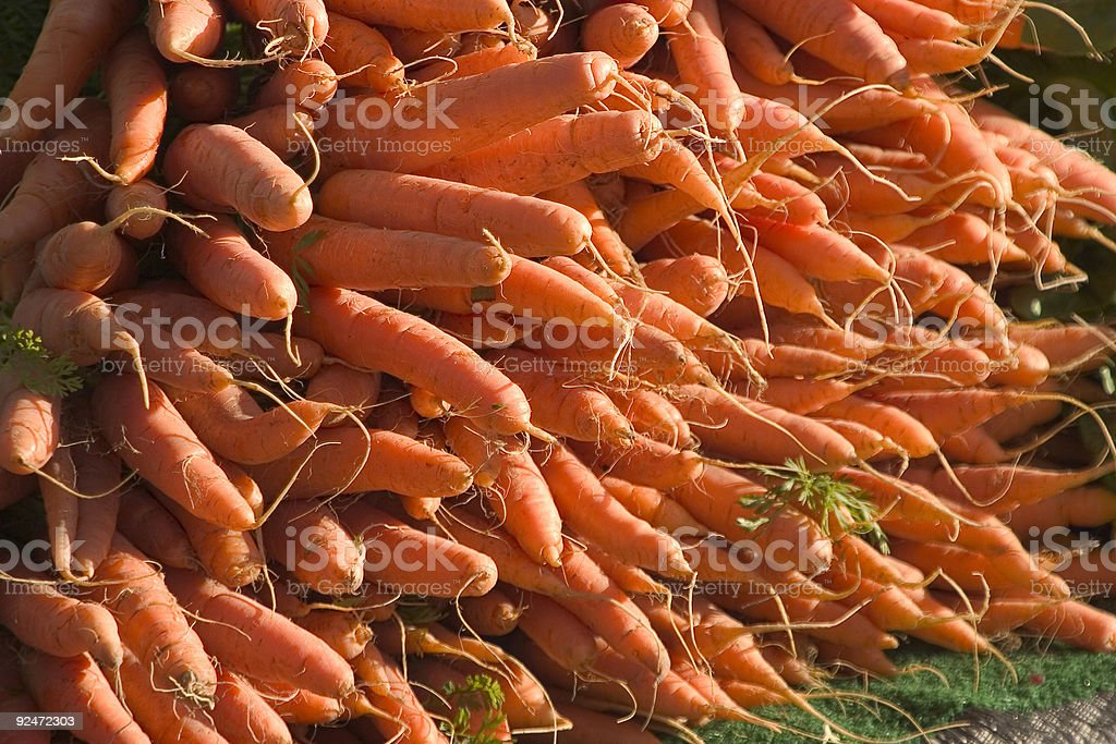 Stack of Carrots stock photo