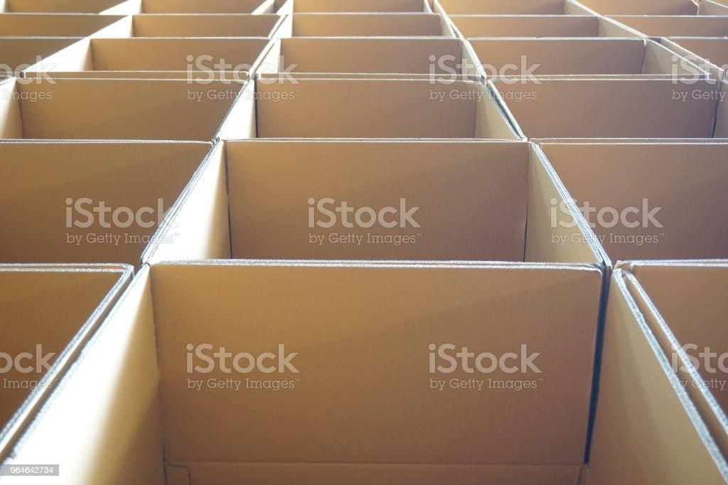 stack of carton box royalty-free stock photo