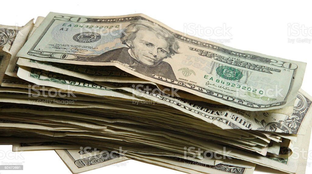 stack of cash royalty-free stock photo