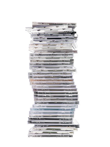 Stack of cd`s stock photo