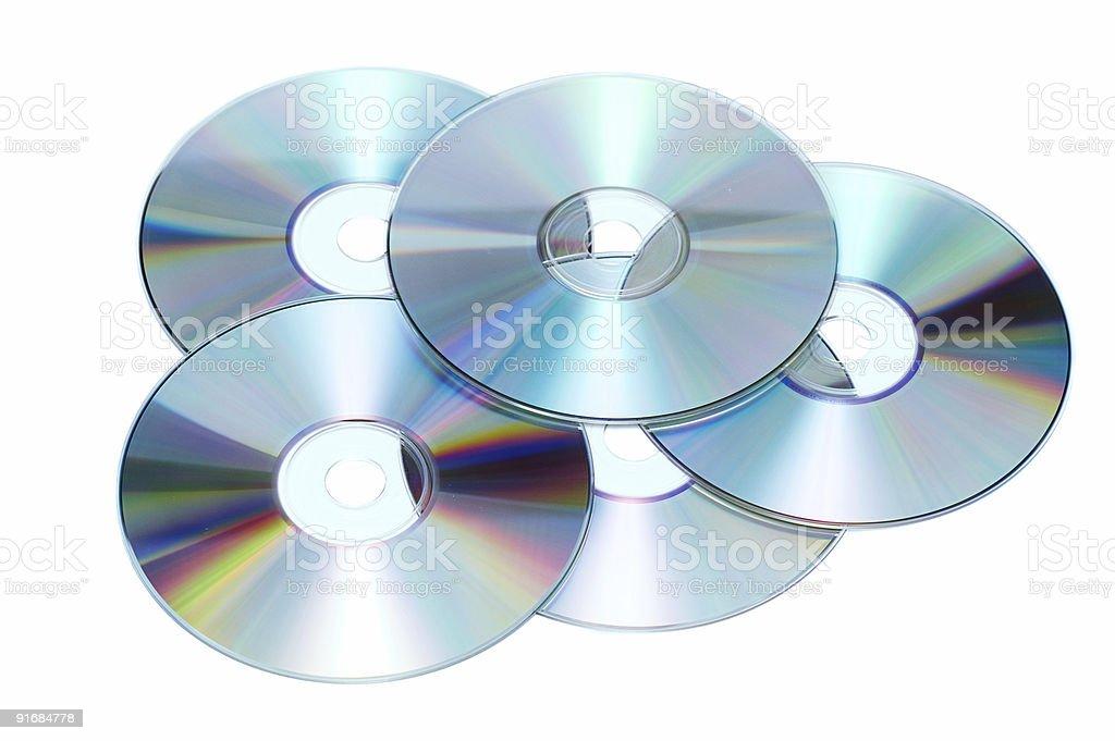 Куча компакт-дисков стоковое фото