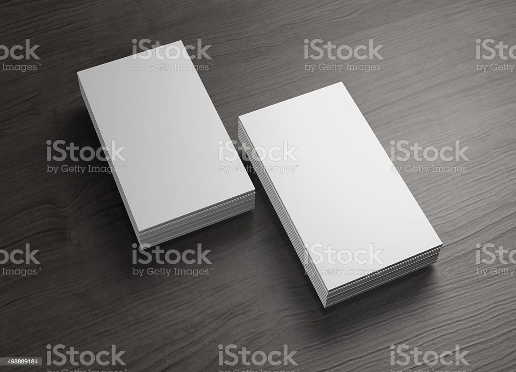 Stack Of Chinese Business Cards Of Wood Table Stock Photo & More ...
