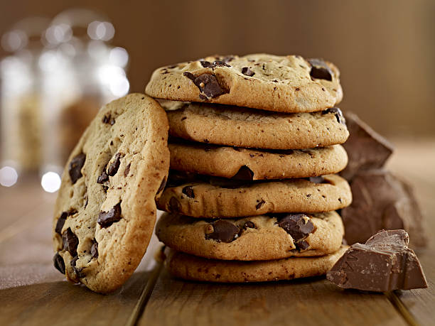 Stack of Chocolate Chip Cookies​​​ foto