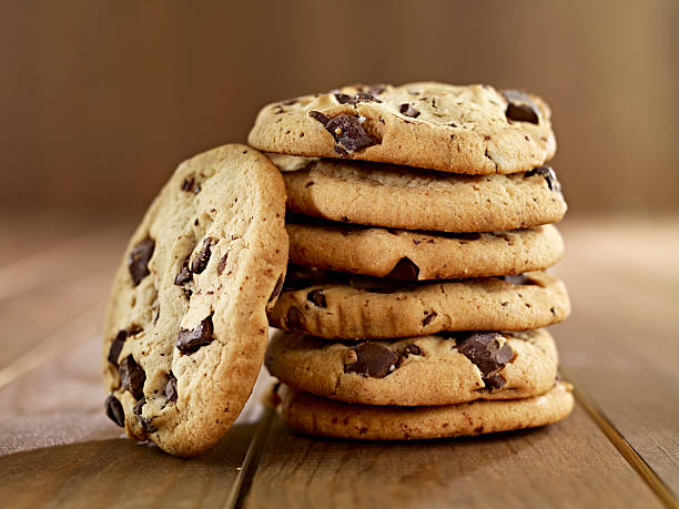 Stack of Chocolate Chip Cookies – Foto