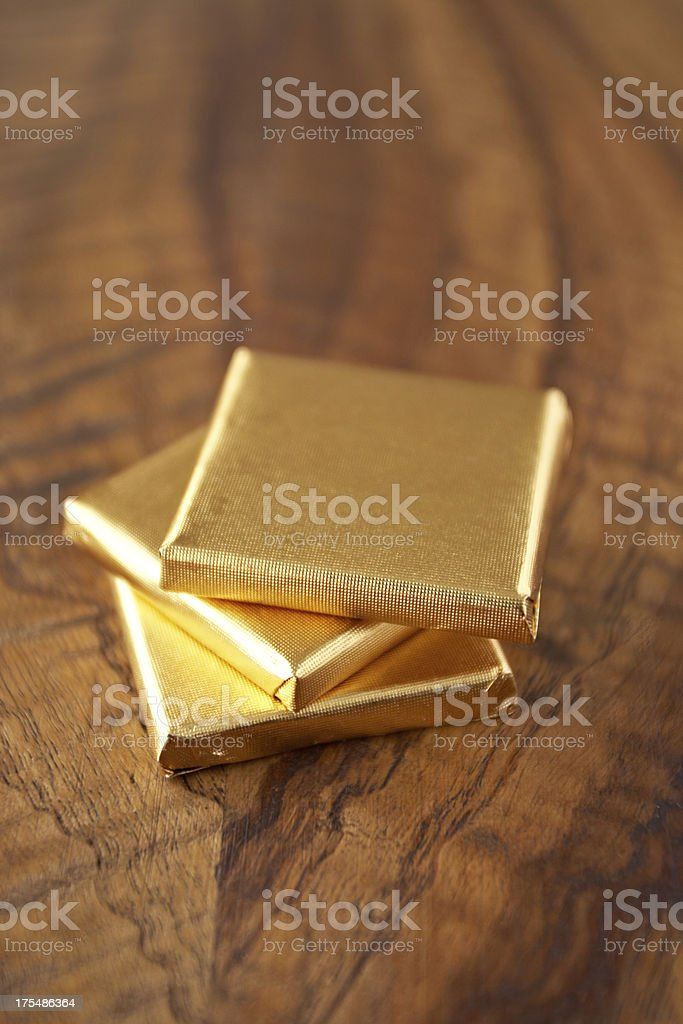 Stack of chocolates. stock photo