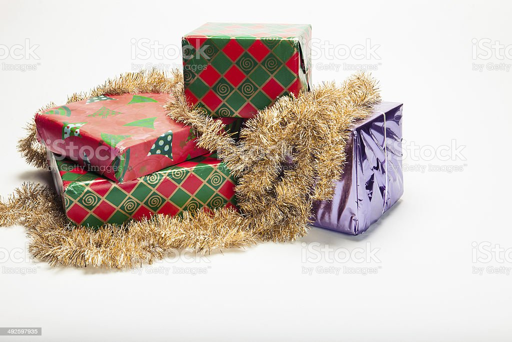 Stack of Christmas Gifts Hoiday Theme royalty-free stock photo