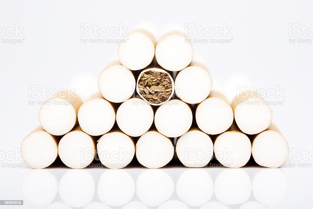 Stack of Cigarettes royalty-free stock photo