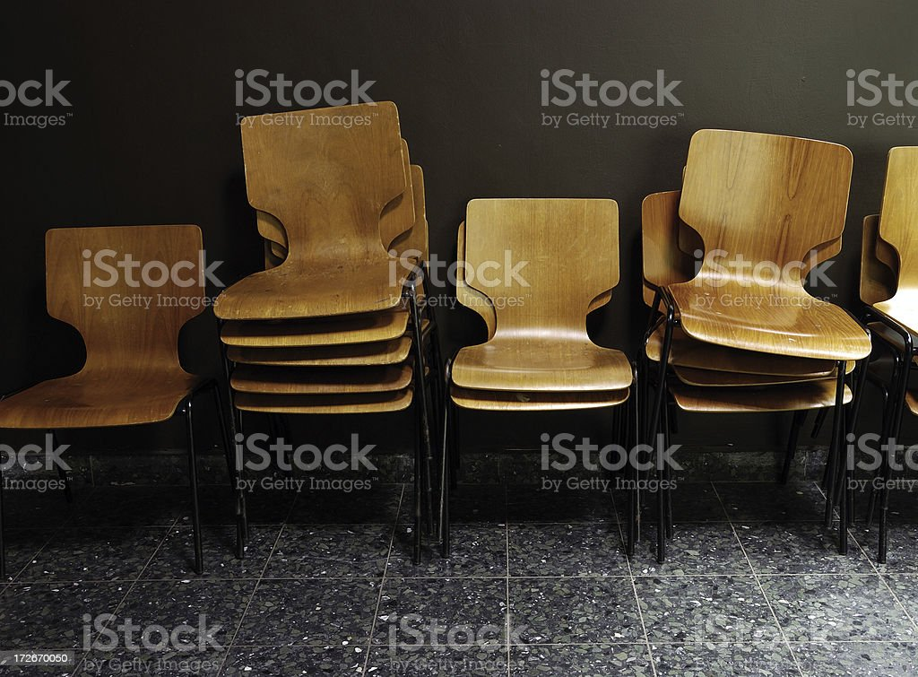 stack of classic design chairs royalty-free stock photo