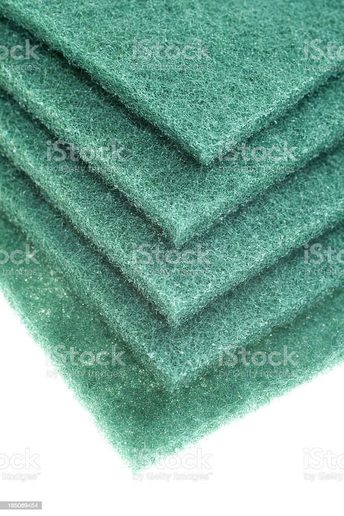 Stack of Cleaning Pads royalty-free stock photo