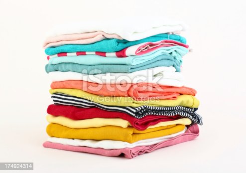 186826582 istock photo Stack of clothes 174924314