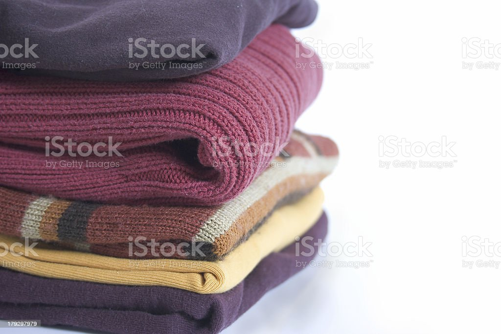 stack of clothes royalty-free stock photo